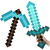 Minecraft sword and pickaxe set