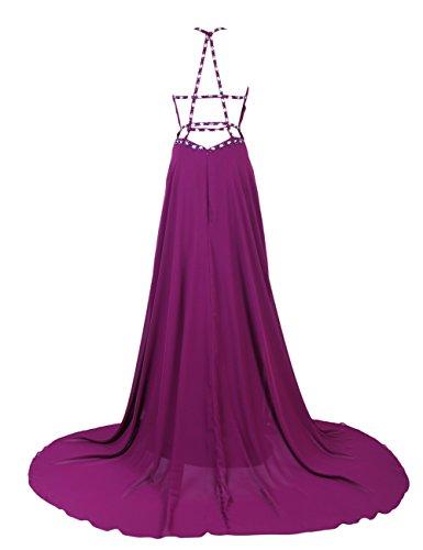 Dresstells, Robe de soirée de mariage/cérémonie/mère de mariée bretelles spaghetti forme empire traîne moyenne avec emperler sequins Menthe