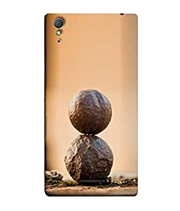 FUSON Designer Back Case Cover for Sony Xperia T3 (Stone arts Rocks Pattern Crazy Paradigm)
