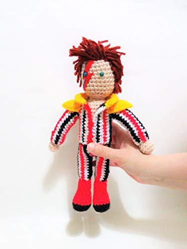 David Bowie de amigurumi 23 centimetros