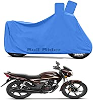 Bull Rider Two Wheeler Cover for Honda CB Shine (Blue)