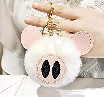WYBL Juguetes De Cerdo para Niñas Niños Cumpleaños Regalo Colorido Suave Peluche Animal Mochila Cerdo Llavero Colgante Muñecas 12 Cm Blanco por WYBL