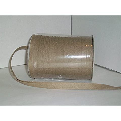 Toffee Double Fold Bias Tape 50 Yds. 1/2 Inch by MJ's Crafts & More