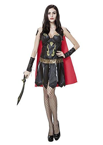 sexy Damen Kriegers-griechisches römischen Gladiator fancy Kleid (Griechische Krieger Halloween Kostüm)