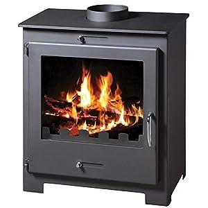 Estufa de leña para quemar leña, moderna, de combustible, sólida, potencia de calefacción 11/18 KW