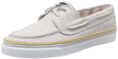 Sperry Bahama 2 Eye-Grey Linen Bootsschuh Segelschuh Sneaker Damen (39,5) (2-eye Schuh Damen-bahama)