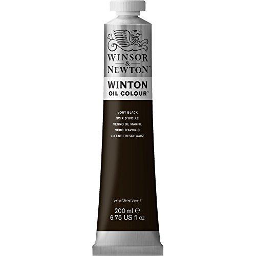 Winsor & Newton Winton 200-Milliliter Oil Paint, Ivory Black [Misc.] (japan import)