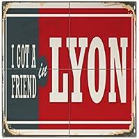 Azulejo Ciudad Lyon Francia Ceramica impreso 15x15 cm