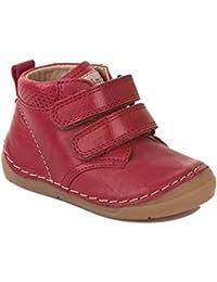 Froddo Kinder Halbschuh G2130132 Klettschuh Mädchen Klettverschluss Leder Rot