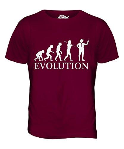 CandyMix Pfadfinderleiter Evolution Des Menschen Herren T Shirt Burgunderrot