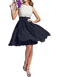 Gorgeous Novia Corto Gasa Sweety de dama vestido de fiesta cóctel Prom Vestido