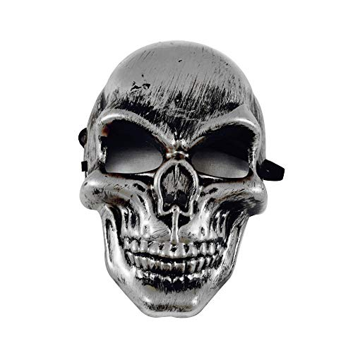JYJM Halloween Horror Grimasse Nacht Terror Maske Kostümfest Kleid Halloween Maske Weiß mit Haaren Horror Zombie Teufel Halloweenmaske Geist Hexe Monster Unisex für Damen Herren (Mehrfarbig B)