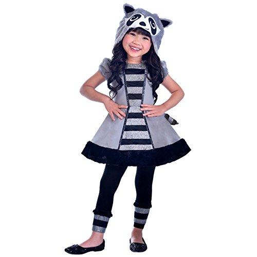 Waschbär - Tier Kostüm Kinder Mädchen Amscan (Waschbär Kostüm Kinder)