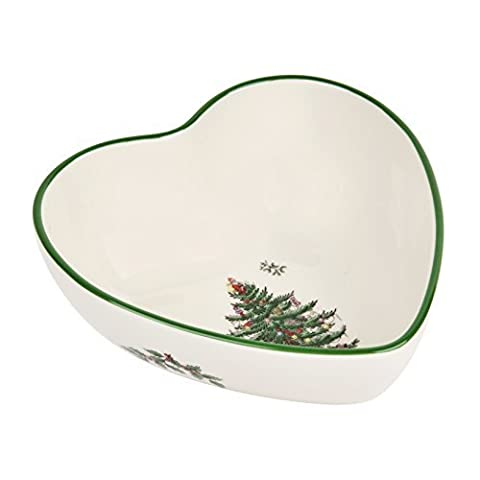 Spode Christmas Tree Heart Shaped Dip Bowl by Spode