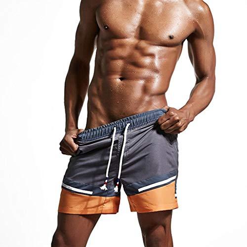 Gladdon Maillots de Bain pour Hommes Running Surf Sports Shorts de Plage Trunks Pantalons de Surf Plage Natation Beach Bermudas Renfort Tete