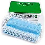 كمامة / قناع وجه 3 طبقات لون ازرق علبة تحتوي على 50 قطعة