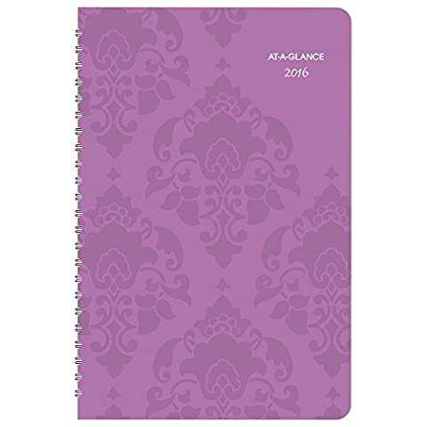 AT-A-GLANCE Weekly / Monthly Planner 2016, 13 Months, 5.5 x 8.5 Inches, Taryn (542-200)