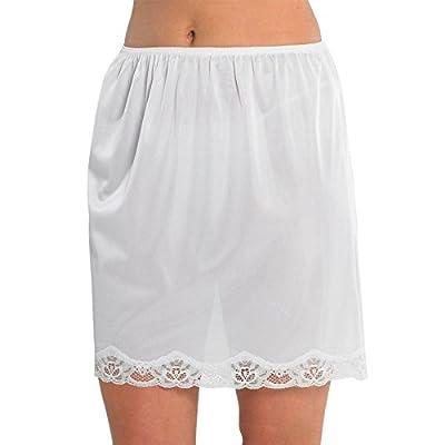 Marlon Ladies Cling Resistant Underskirt Underwear Half Slip Waist Slip 18 inches Long