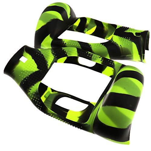 1 Paar Silikon Gummi Hoverboard Scooter Schutzhülle Set Gummi-Hülle Gehäuseschutz Schwarz & Grün Cover