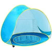 VORCOOL Sun Shade Beach Capottina portatile Triangolo Tenda Sun Shelter per campeggio pesca Forniture per l'istruzione Blu ciel-bleu