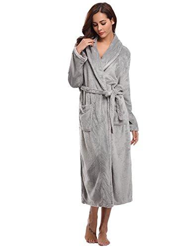 Aibrou Unisex Calientes Albornoz Invierno Batas Kimono Baño para Hombre y Mujer,Suave...