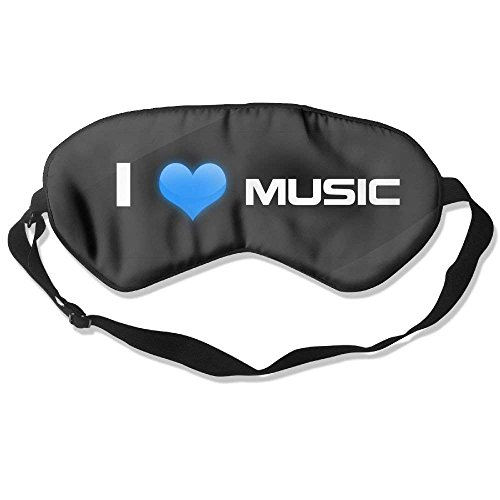 Comfortable Sleep Eyes Masks I Love Music Printed Sleeping Mask For Travelling, Night Noon Nap, Mediation Or Yoga