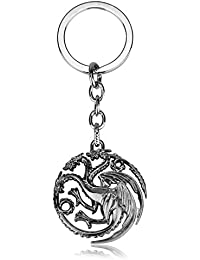 Anugraha Game Of Thrones Fire And Blood Targaryen Dynasty Badge 3D Metal Key Chain