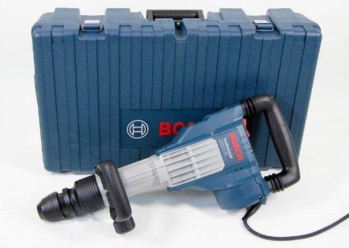 Bosch 0611336071 11 kg 240 V Abbruchhammer mit SDS-Max Plus 2 x Flachmeißel / 1 x Spitzmeißel im Koffer, 1 Stück, GSH11VC/2