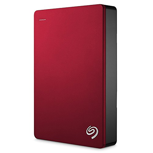 Seagate Backup Plus 5TB, rot, externe tragbare Festplatte inkl. Backup-Software, USB 3.0, PC & MAC & PS4  (STDR5000203)