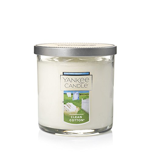Yankee Candle Clean Cotton Kleine Trinkgläser Arbeitshemd Kerze, Glas, grün, Einheitsgröße - Cotton Kerze
