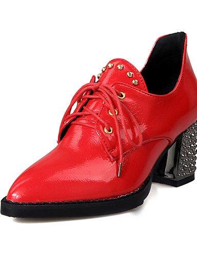 WSS 2016 Chaussures Femme-Habillé / Décontracté-Noir / Rouge / Blanc-Gros Talon-Bout Pointu-Talons-Similicuir white-us4-4.5 / eu34 / uk2-2.5 / cn33