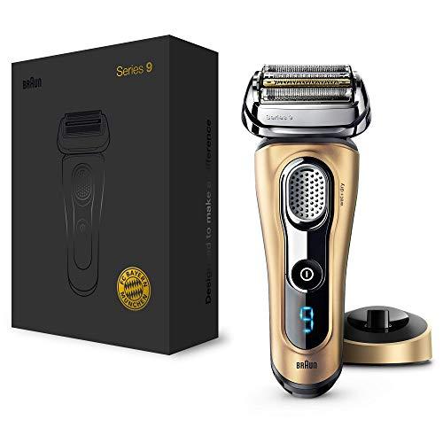 Braun Series 9 9299s Máquina de afeitar de láminas Recortadora Oro - Afeitadora (Máquina de afeitar de láminas, Oro, AC/Batería, Ión de litio, 50 min, 1 h)