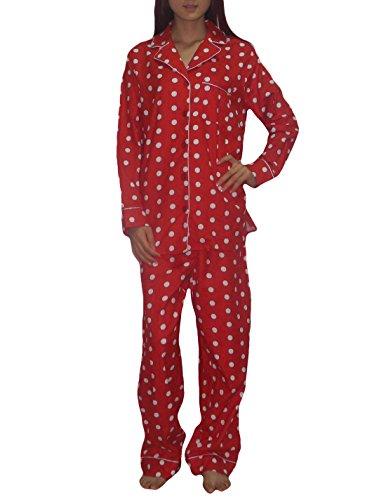 2-PCS-SET-Kim-Rogers-Damen-Wunderschne-Nachtwsche-Baumwolle-Pyjama-Set