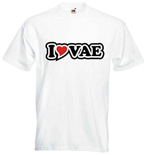 T-Shirt I Love Heart Herren I LOVE VAE Weiß