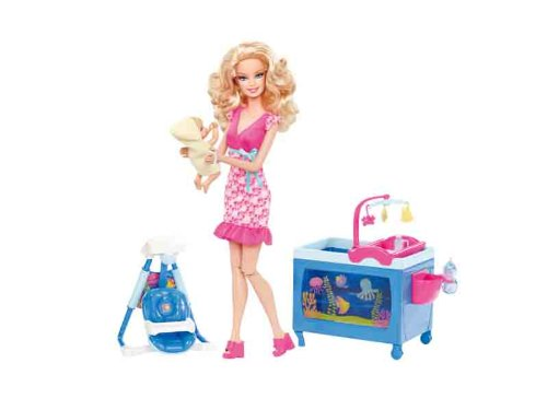 Barbie Mattel V6934, wäre gern... Babysitter, Spielset inkl. Puppe