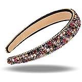 Xrten Dames haarband met strass, modieuze elastische kristallen haarband voor bruiloft, feest