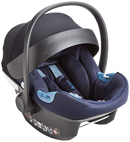 Cybex Gold - Portabebé Aton M I-Size, en contra de la marcha, incluye reductor para recién nacido, para niños de 45 cm a 87 cm, max. 13 kg, indigo blu