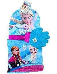 Getson - Set de bufanda, gorro y guantes - para niño Azul Frozen Talla única