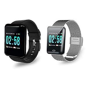 feiledi Trade Farbdisplay Smart Armband, 1.3screen Multi-Sport-Modus wasserdicht Schritt zählen Blutdruck Herzfrequenz-Überwachung Fitness-Uhr Smart Watch