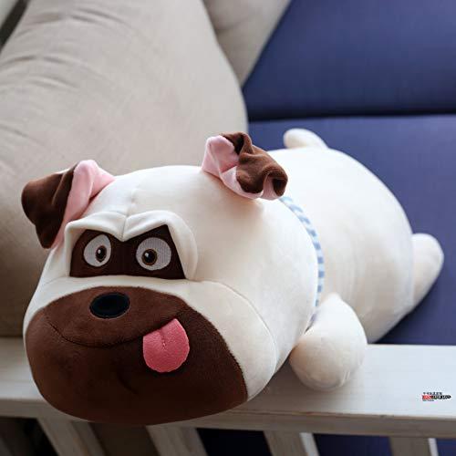 DONGER Simpatico Pup Giocattolo Bambola Shar Pei Bambola Principessa Dormiente Cucciolo Cuscino Ragdoll Regalo, Cane Bianco, 65Cm