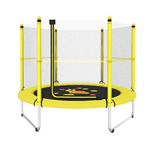YDHYYDQCFJL Mini-Trampolin - Kleinkind-Trampolin, Indoor-Bounce-Armlehne Basketball Hoop Protection Network Kinderspiel Im Freien Elastisches Trampolin (Color : A)