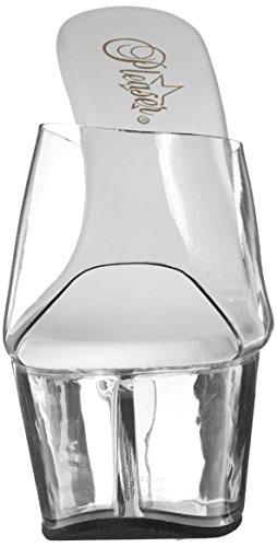 Pleaser Damen Aspire-601 Offene Sandalen Transparent (Clr/Clr)
