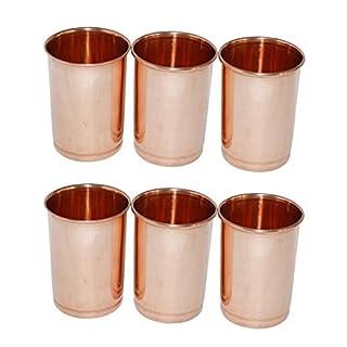 AVS Store Trinken Glas kupfer Glas 100% reines Kupfer Tumbler Gesundheit Heilung Set von 6