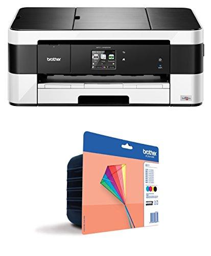 Brother MFCJ4420DW - Impresora multifunción de inyección color (35 ppm, 6000 x 1200 dpi, A4) + Cartucho estándar pack