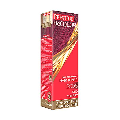 Vips Prestige - BeColor Tinte Semi Permanente Color Rojo Cereza BC08, Sin Amoniaco Sin Peroxide