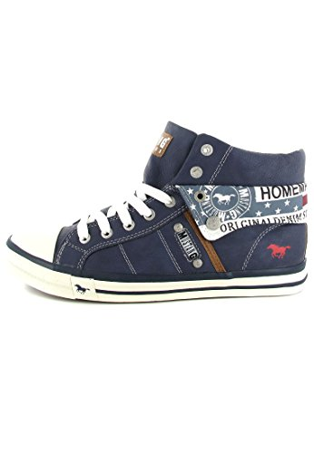 Mustang 1146501 Damen High-top Blau - Dunkelblau