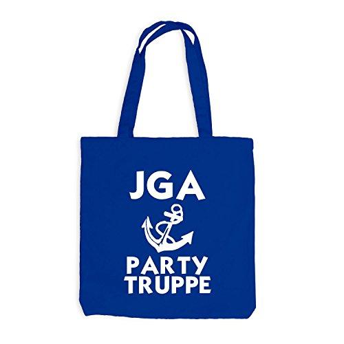 Jutebeutel - Junggesellenabschied - ANKER - Party Truppe - JGA Style Royalblau