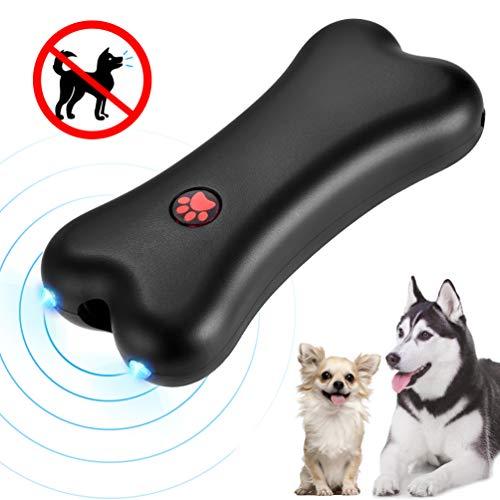 Petacc Anti-Barking-Handgerät Ultraschall-Hunderindenschutz-Trainingsgerät mit LED-Licht und USB-Aufladung