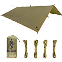 FREE SOLDIER Hamaca Rain Fly - Tarima Impermeable Grande Ripstop Tarp Shelter Ligera Que acampa Rain Tarp Easy Set Up