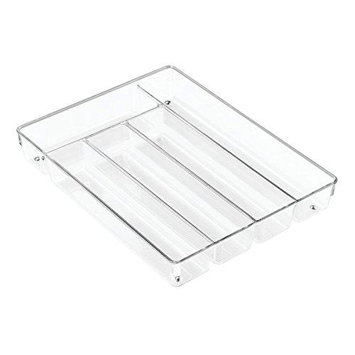 Mdesign vassoio portaposate trasparente ideale organizer cassetti cucina per posate e utensili - Porta posate da cassetto ...